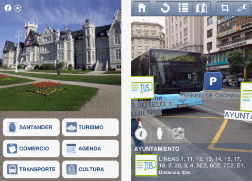 Detail of Augmented Reality application