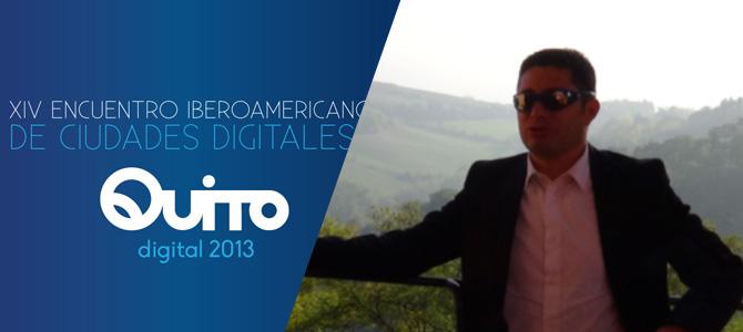 Juan Pablo Espinosa, organisateur de la conférence Quito Digital 2013