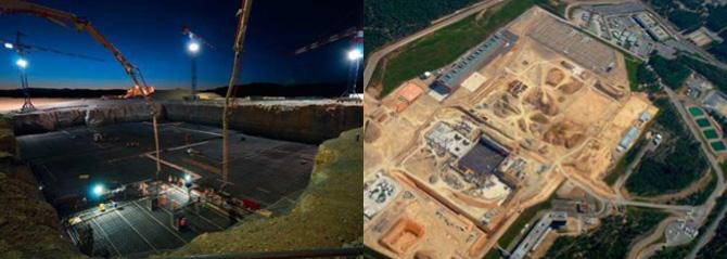 Vue du site d'ITER à Cadarache, d'une superficie totale de 90 hectares