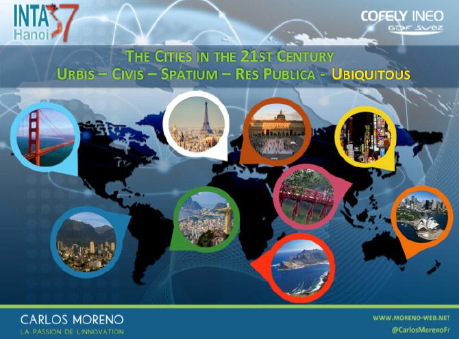 Les 5 grandes composantes de la ville selon C.Moreno