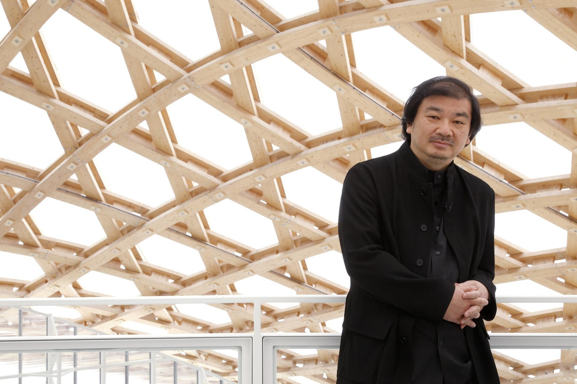 Japanese architect Shigeru Ban poses during a visit of the Centre Pompidou-Metz museum in the eastern city of Metz in this May 10, 2010, file photo. Ban, noted for his elegant and resourceful designs, has won the 2014 Pritzker Architecture Prize, the top award in the field, organizers said on March 24, 2014. REUTERS/Benoit Tessier/Files (FRANCE - Tags: ENTERTAINMENT)