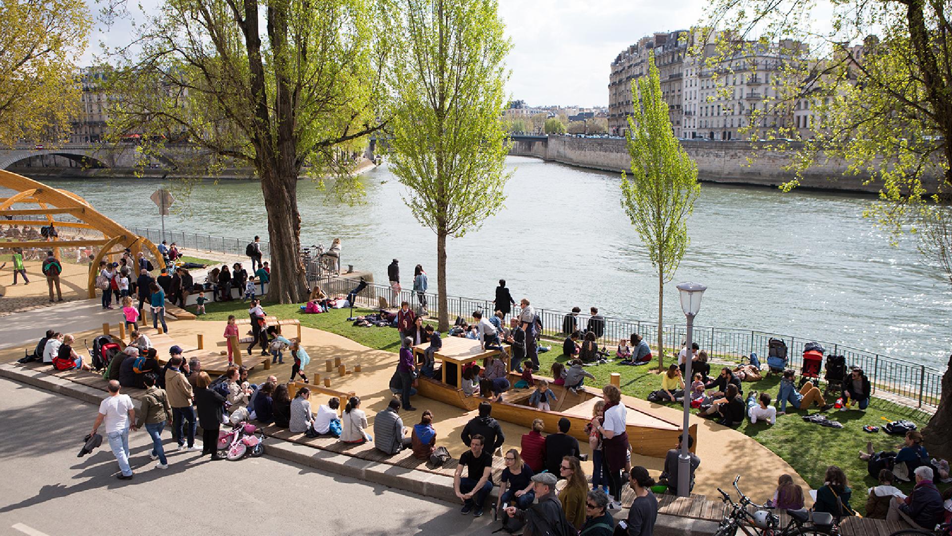 Le parc urbain de Paris Rives de Seine symbole, malgré lui, d'un regard sur l'avenir de la ville