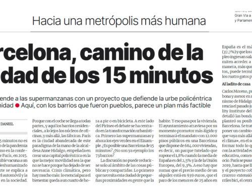 El Periódico – Barcelona, camino de la ciudad de los 15 minutos – 26 mai 2021 (Espagne)