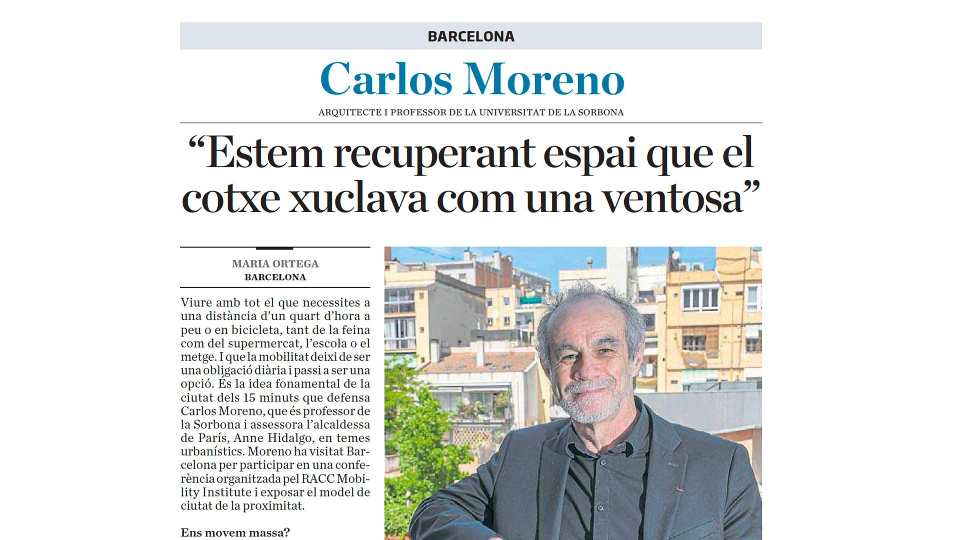"""Ara – """"Estem recuperant espai que el cotxe xuclava com una ventosa"""" – 23 mai 2021  (Espagne)"""