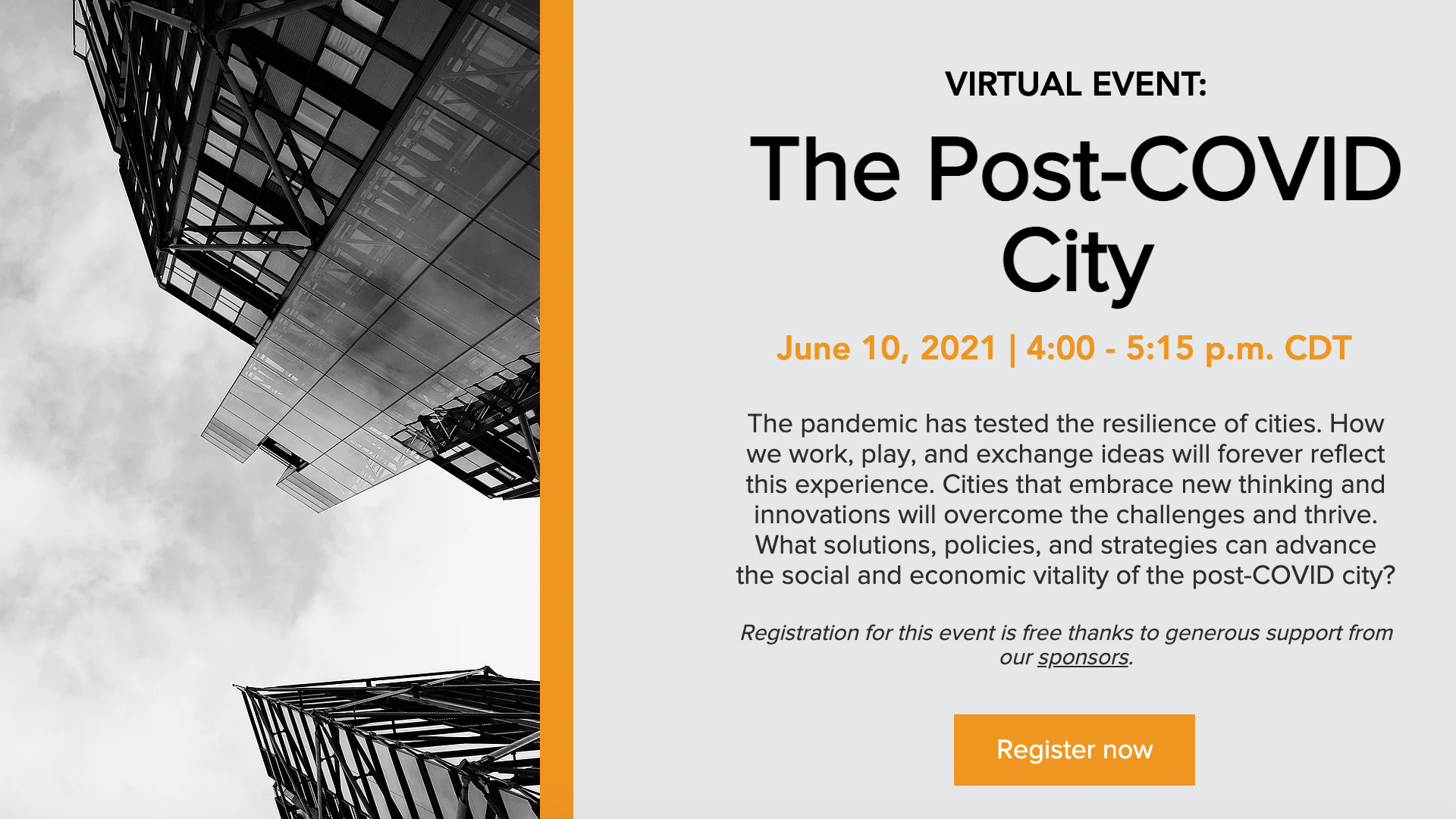 10 juin 2021 – Pritzker Forum – The Post-Covid City