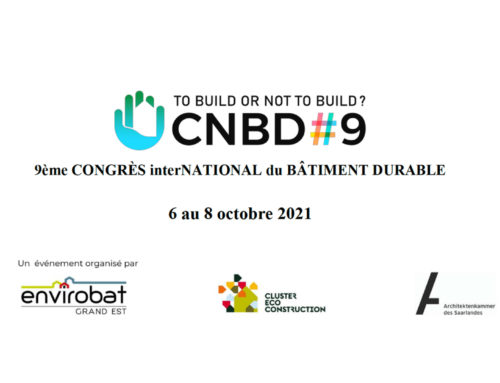 8 octobre 2021 – Congrès interNational du Bâtiment Durable